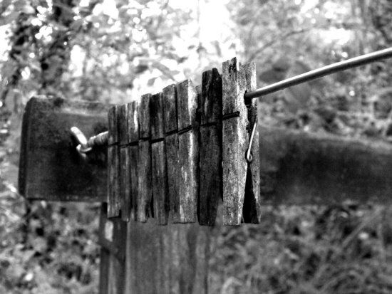 clothes clothespins digital blackwhite clothesline