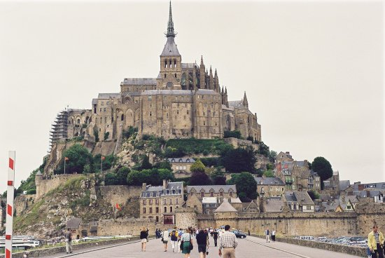 le mont st michel in france