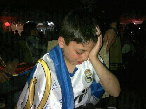 Real Madrid fan crying
