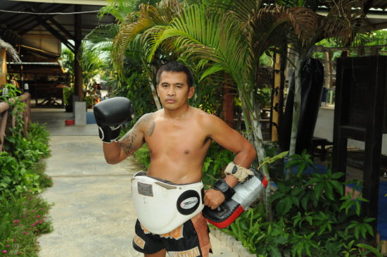 Master Muay Thai Instructor Tiger Muay thai training camp Phuket thailand