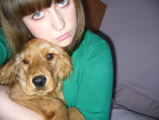 I've got unfortunately only one photo with my puppy Chester
