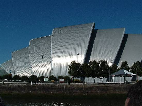 Glasgow's 'Armadillo' from the River Clyde
