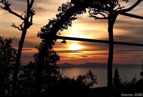greece lagonisi sunset