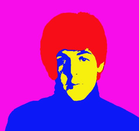 Paul Beatles Silk Screen