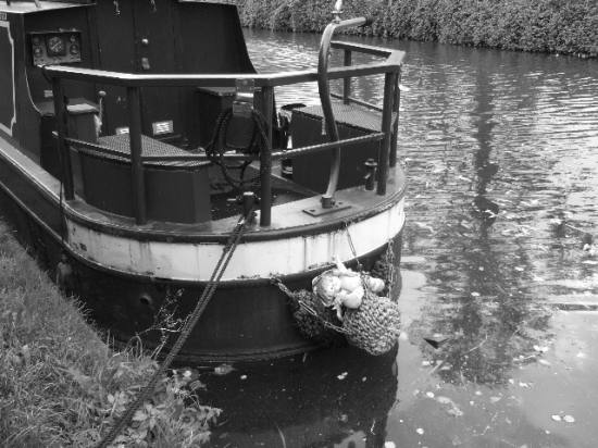London canal Paddington blackwhite