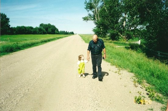 old young farm dirt road Weyburn country