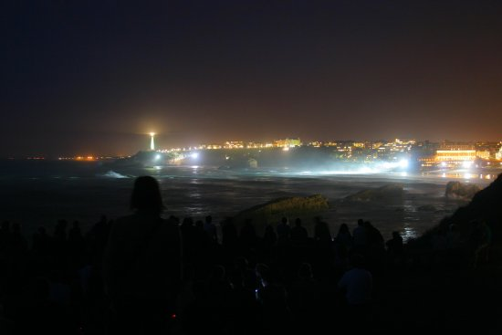 summer night france biarritz