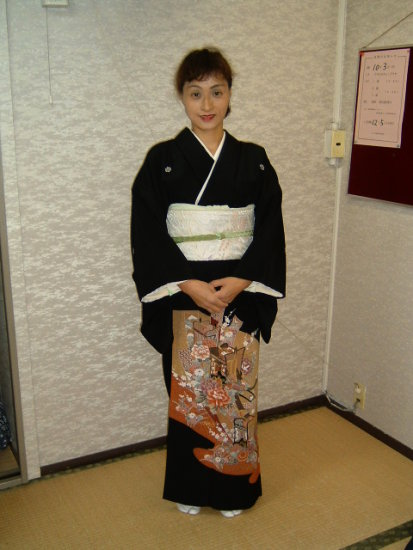 in the Kimono schoolwear by myself