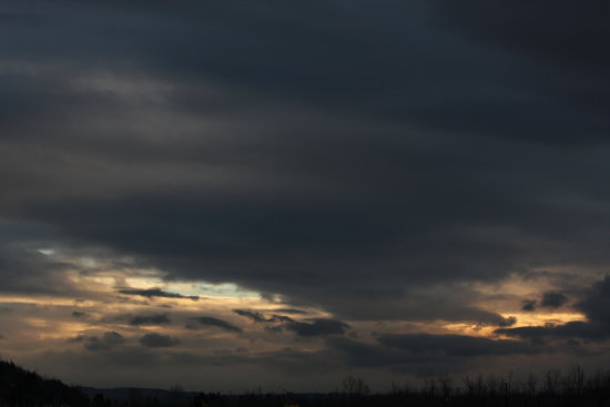 Taken 2/18/2013, Black and White Sunset, in Color, near Chehalis, WA. 3 of 10, taken over the cou...