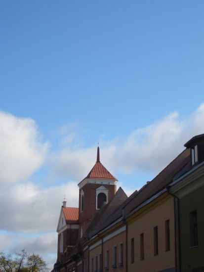 cathedral oldtown kaunas lithuania architecture sky