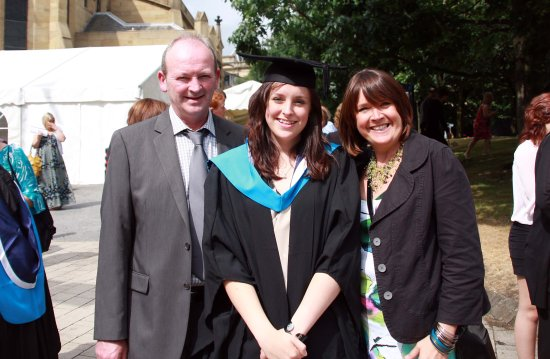 Huddersfield Graduation Day graduate proud parents