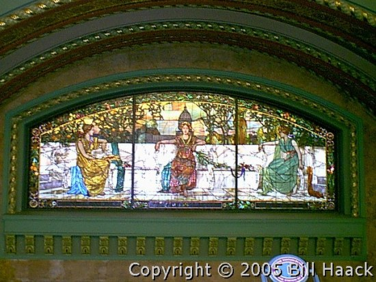 stainedglass art architecture travel stlouis train trains unionstation station