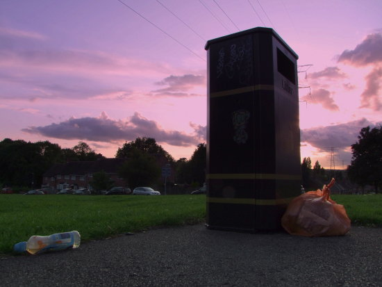 RubbishFriday Litterbin Sunset Garbage Rubbish