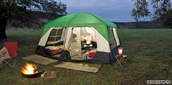 Flight accommodation packages Camping