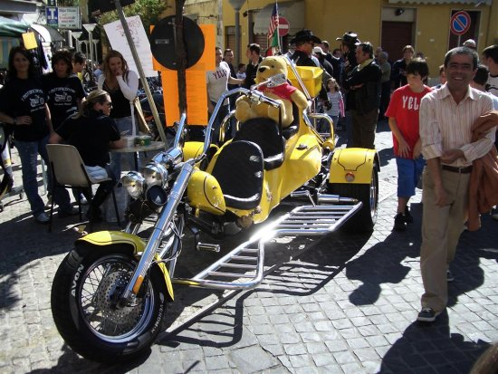 I saw this fantastic bike in Italy...;-)
