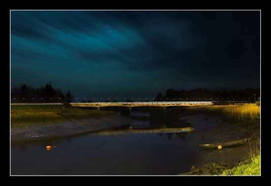 Clare Ireland Landscape Bunratty Night Clouds River Bridge Boat
