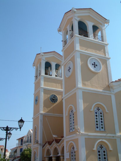 kefalonia greece holiday church architecture building