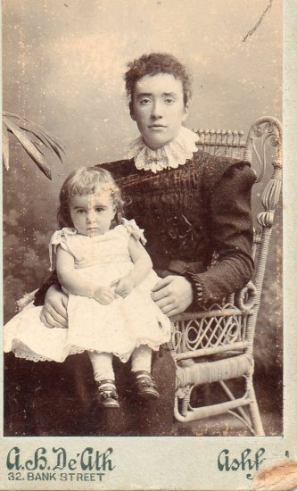 my mother as a child around 1900