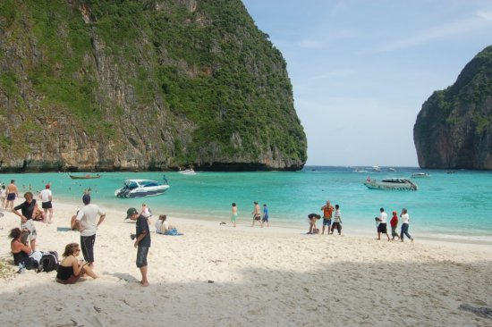 """one of the best known beach in Thailand... MAYA BAY where the movie of Leonardo diCaprio """"THE BEA..."""