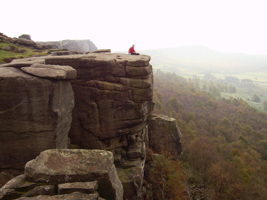 Friend on Curbar Edge