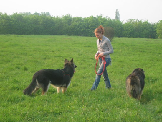 Anna with the wolves 16 April 2007