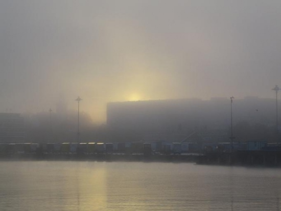 fog sweden gothenburg water