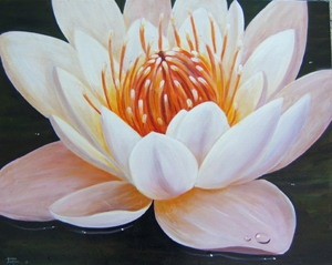 painting water lilly