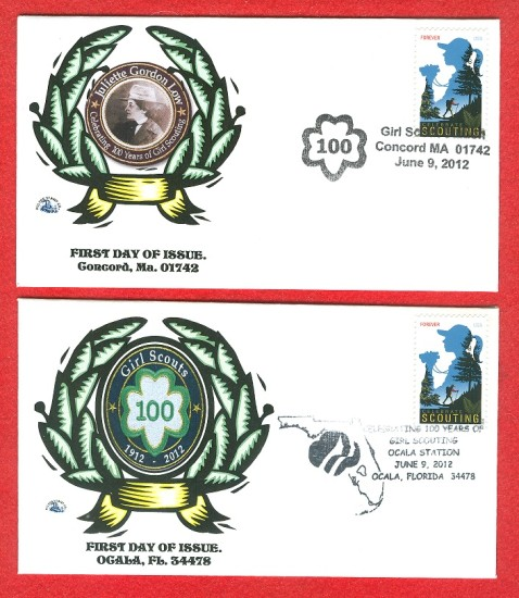 GIRL SCOUTING STAMPS