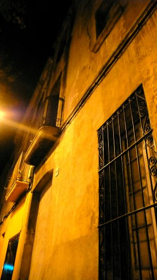 old house city badalona barcelona catalonia night