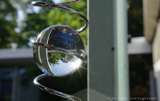 reflection glass ball ornamed hang outside perth littleollie