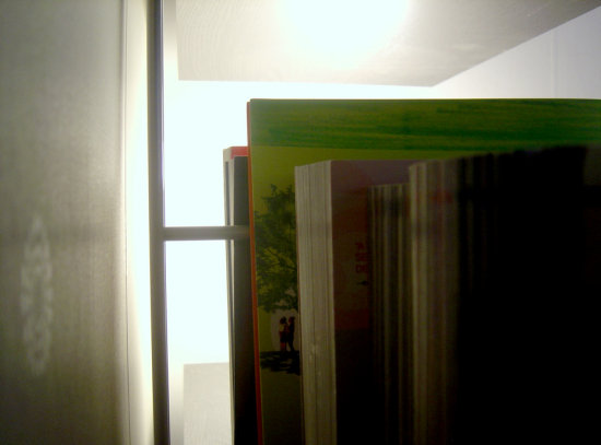 books shelf light