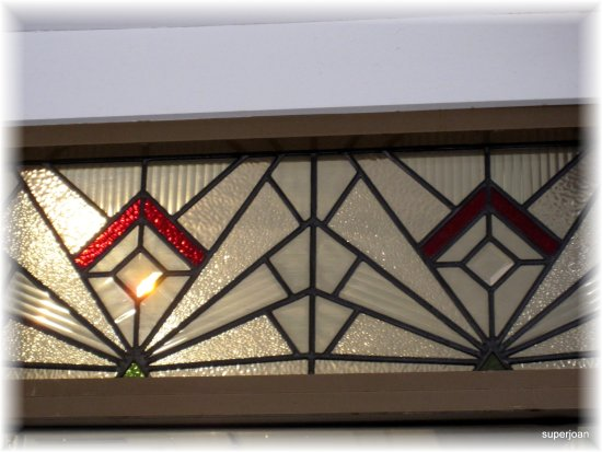 Art Deco window in Napier Windowclub