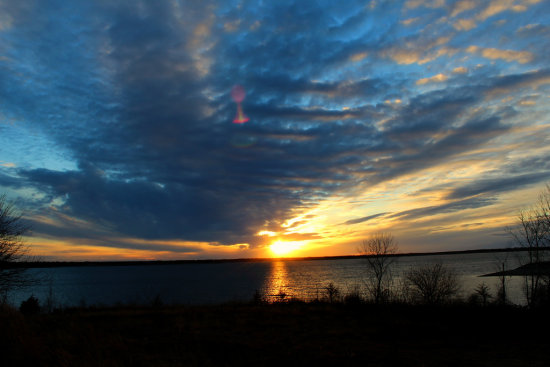 Sunset over Milford Lake, Kansas