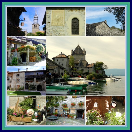 Yvoire village France collage