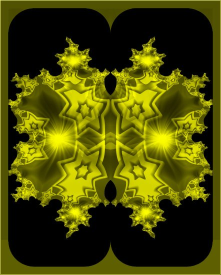 fractal star abstract gold