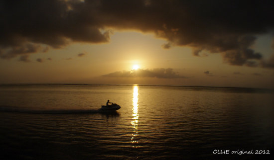 reflectionthursday sunrise jetski morning work bali littleollie
