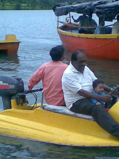Boating on Shivsagar Backwater