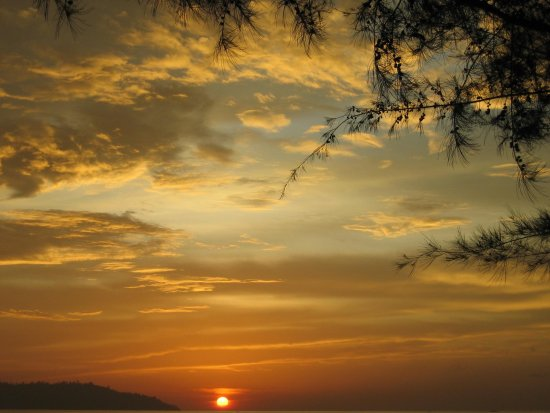 sea sun sunset clouds nature reflection borneo sabah malasysia