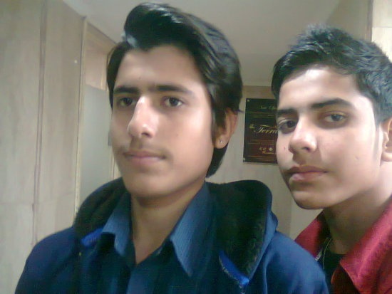 my brother with me