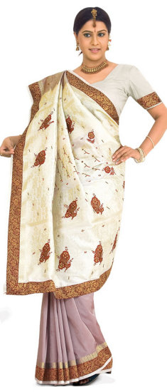 Rust Pink Art Silk Saree with Blouse