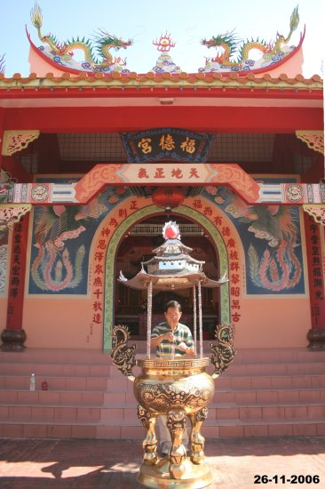 Thien at the Kudat Chinese temple.