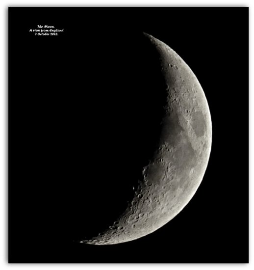 The Moon. A view from England. 9 October 2013.
