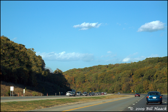 stlouis missouri us usa landscape hills trees hwy44 colors 102608 2008