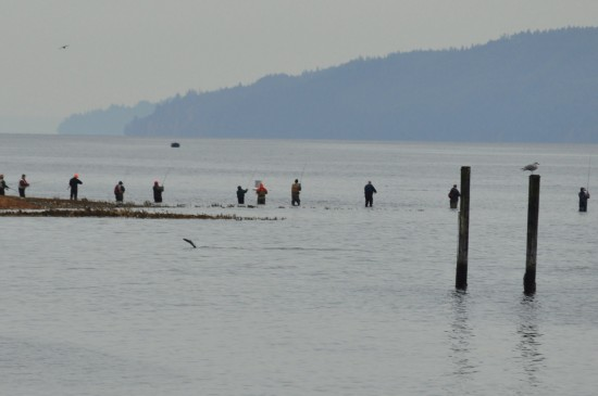 Fishermen on Hood Canal