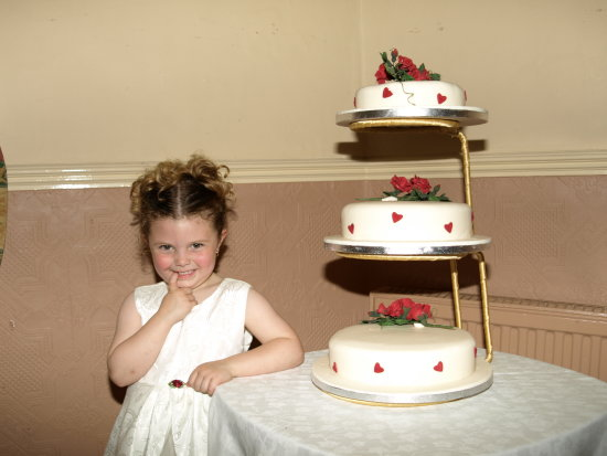 wedding cake and little cutie