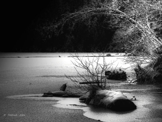 Blackandwhite BW tonemapping snow ice lake