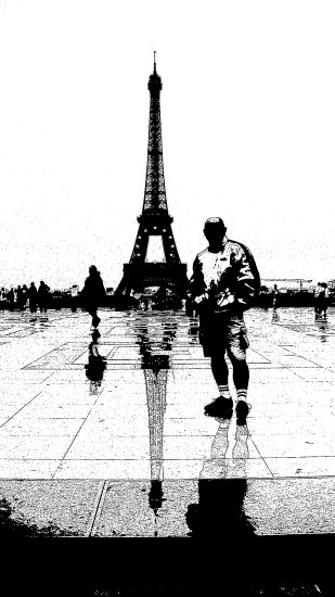 architecture Eiffel Paris blackwhite me