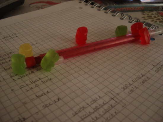 Gummies studying trigonometry