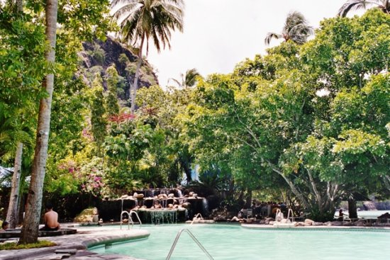 One of the 3 swimming pools, the main just a few walks from the beach which you could see on the ...