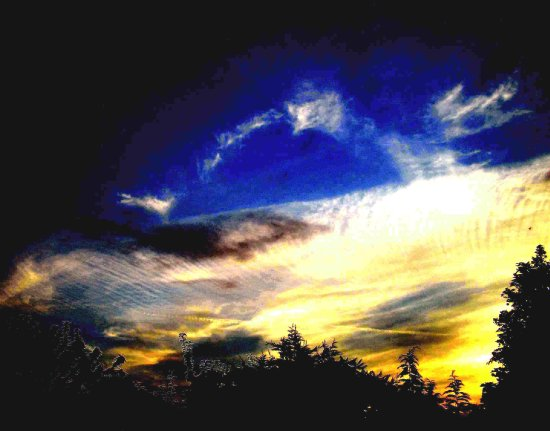 evening cloud formation